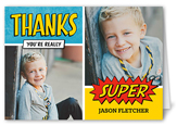 super thanks thank you card 3x5 folded