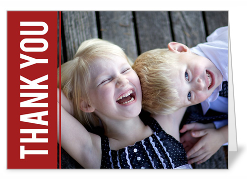 Pictures In Red Holiday Thank You Card