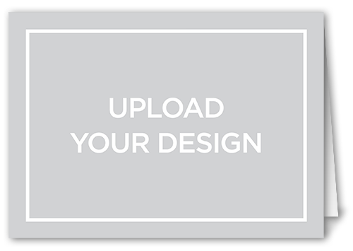 upload your own design custom greeting card - Custom Folded Note Cards