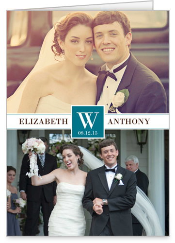 Timeless Monogram Wedding Announcement