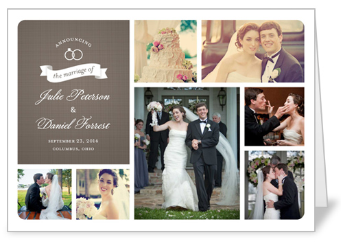 wedding rings collage wedding announcement