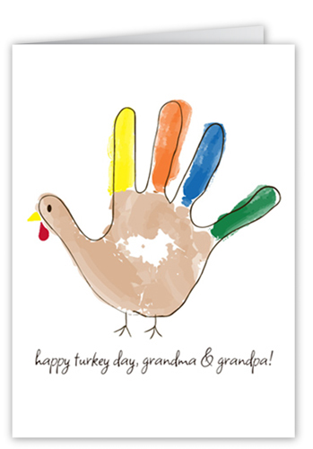 Gobble Fingers Fall Greeting