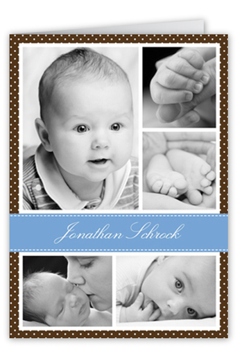 Chic Screen Blue Birth Announcement, Square