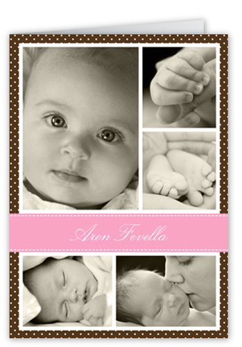 Chic Screen Pink Birth Announcement