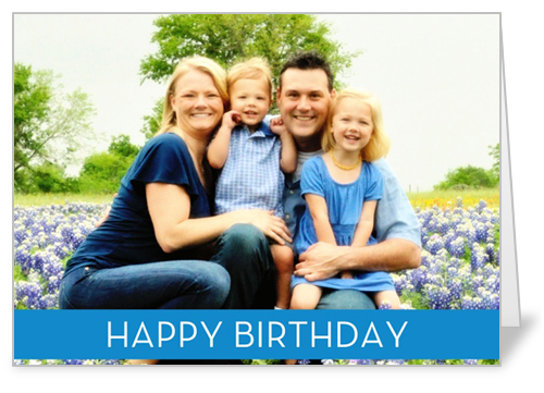 Birthday Banner Blue Birthday Card by Blonde Designs