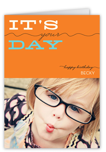 Your Day Tangerine Birthday Card