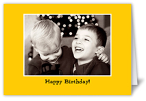 classic yellow party invitation
