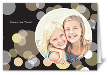 new years bubbles party invitation