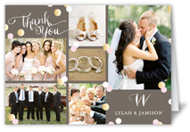 Monogram Wedding Thank You Cards 100 Happiness Guaranteed