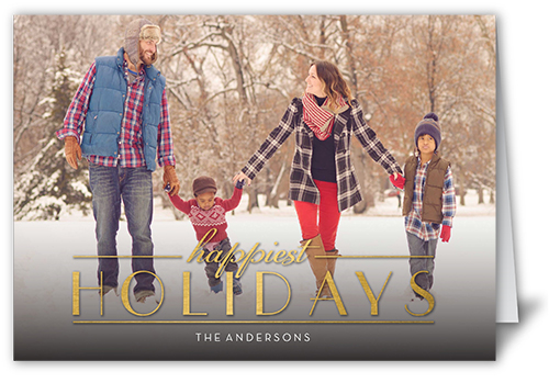 Happiest Gilded Season Holiday Card, Square
