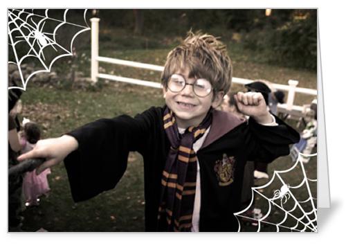 Simple Webs Halloween Card