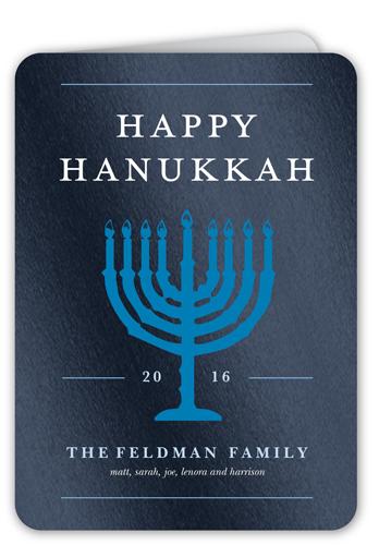 Glowing Menorah Hanukkah Card by Float Paperie