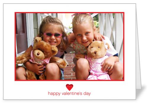 Simple Heart Valentine's Card, Square Corners