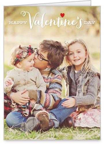 Simple Hearts Valentine's Card, Square Corners