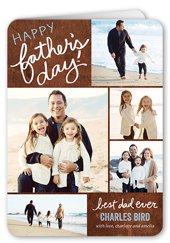 Written For Dad Father's Day Card, Rounded Corners