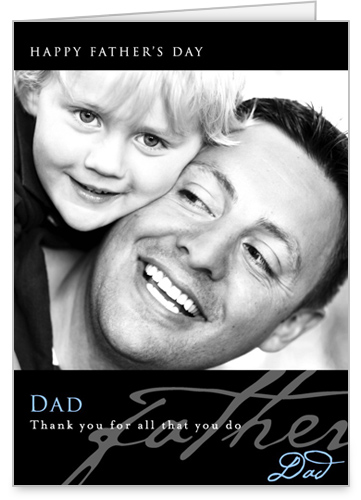 Happy Dad's Day Father's Day Card, Square Corners