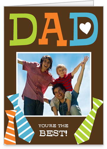 Tied To Dad Father's Day Card