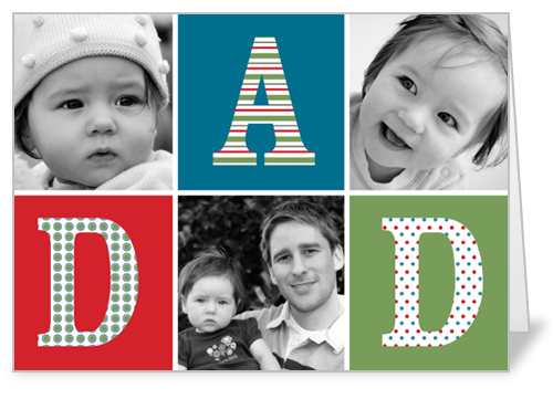 Alphabet Blocks Father's Day Card