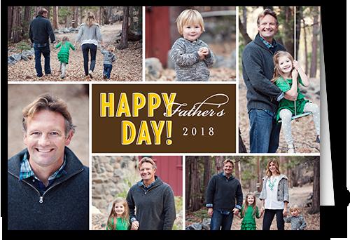 Happy Day Cocoa Father's Day Card, Square Corners