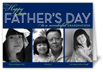 dad collage navy fathers day card