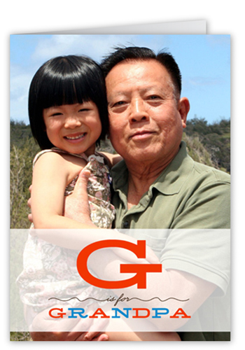 G For Grandpa Father's Day Card, Square