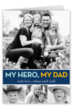 hero dad fathers day card