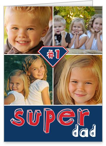 Super Dad Father's Day Card, Square Corners
