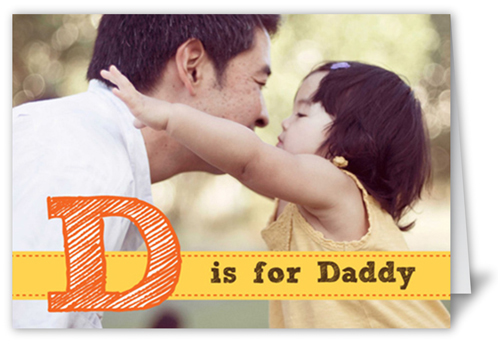 D For Daddy Father's Day Card, Square Corners
