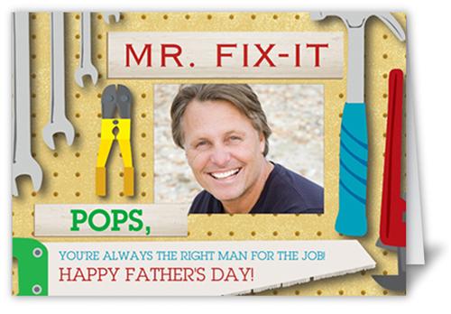 Mr. Fix-it Father's Day Card, Square Corners