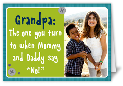 Perfect Grandpa Father's Day Card, Square
