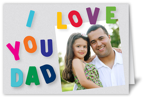 Spell It Father's Day Card, Square Corners
