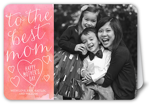 The Best Mom Mother's Day Card, Rounded Corners