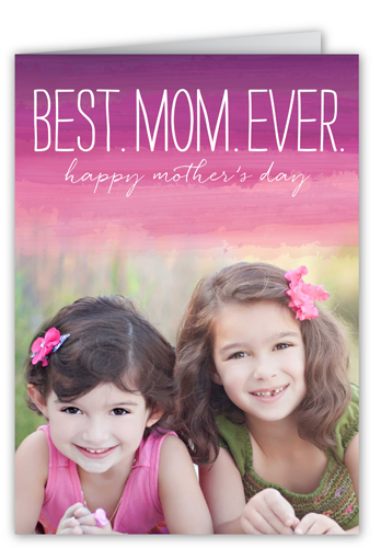 The Best Mom Ever Mother's Day Card, Square Corners