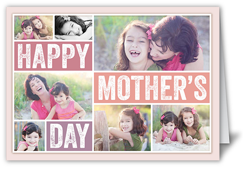 Bold Type Collage Mother's Day Card, Square Corners