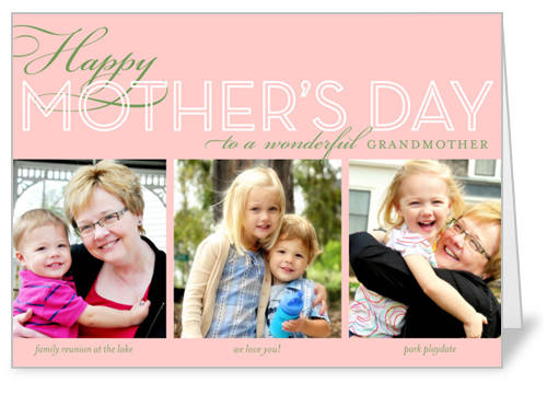 Happy Grandma Collage Mother's Day Card