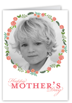 floral frame mothers day card