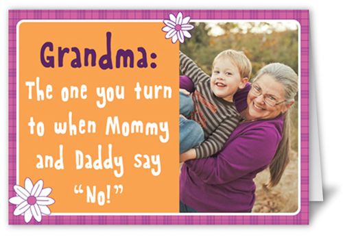Doting Grandma Mother's Day Card, Square Corners