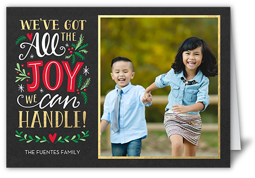 All The Joy Christmas Card, Square Corners