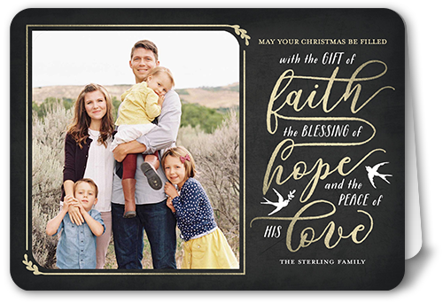 The Gift Of Faith Religious Christmas Card, Square