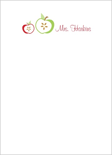 Crisp Apple 5x7 Notepad