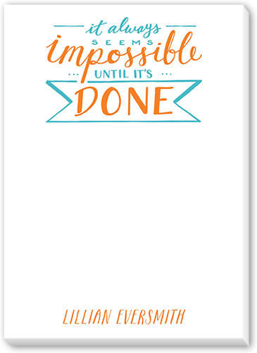 Impossible Quote 5x7 Notepad