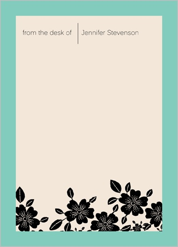 Evening Clovers 5x7 Notepad