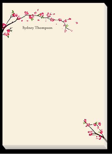 Elegant Blossoms 5x7 Notepad