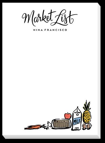 Market List 5x7 Notepad