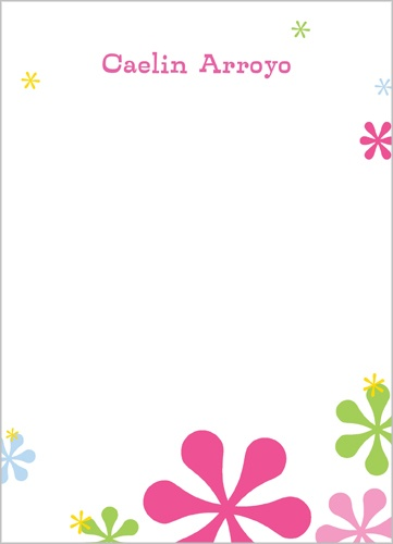 Pink Jacks 5x7 Notepad