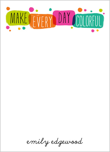 Happy Bright Wishes 5x7 Notepad