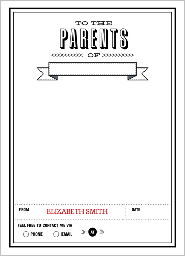 To The Parents 5x7 Notepad