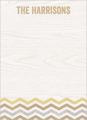 Woodgrain Chevron 5x7 Notepad