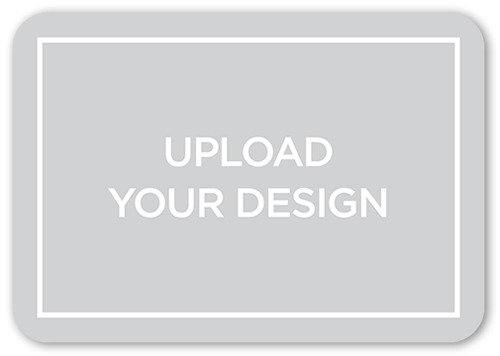 Upload Your Own Design Wedding Response Card, Rounded Corners