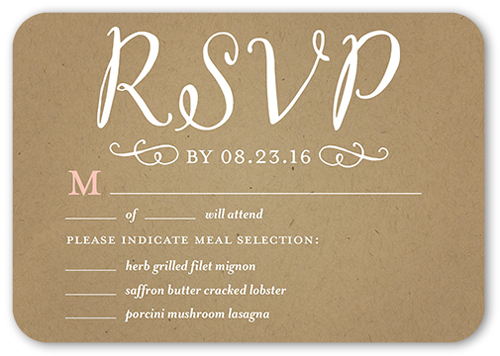 Forever Hearts Wedding Response Card